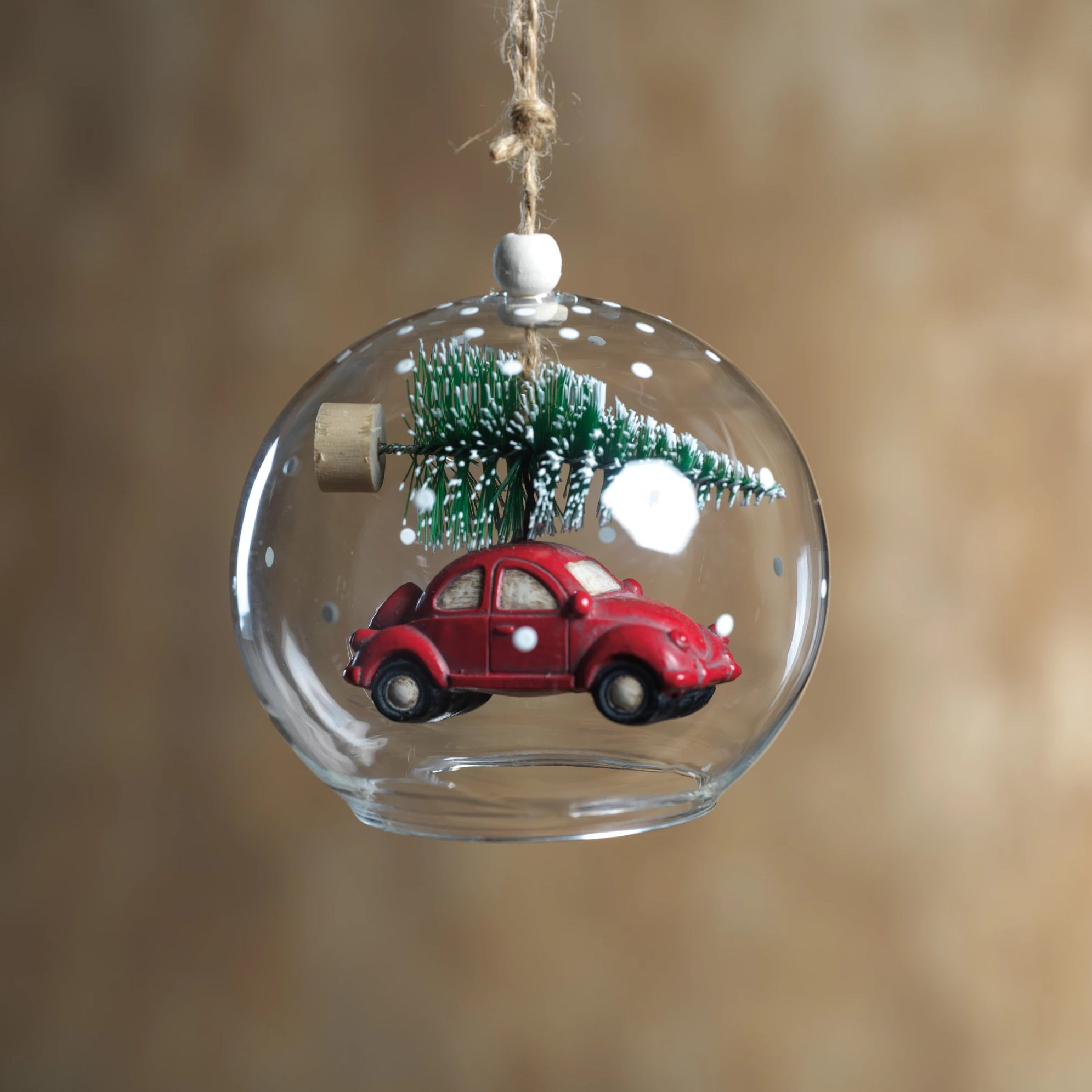 Tree on Car Ornament - Red - Set of 6 - CARLYLE AVENUE