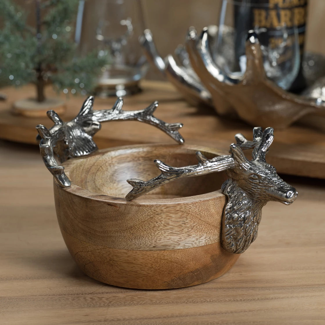 Stag Head Wooden Bowl - CARLYLE AVENUE