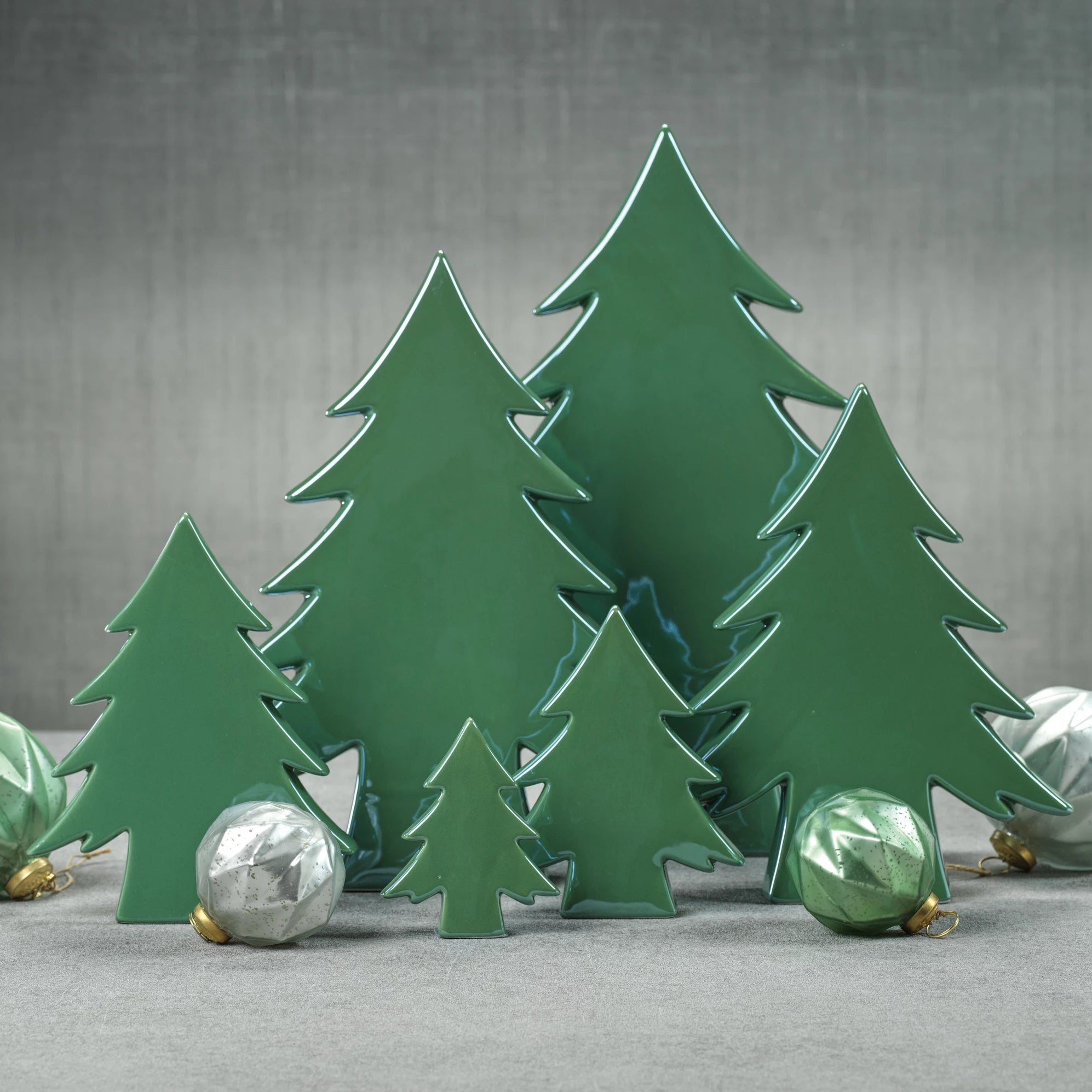Teton Green Ceramic Tree