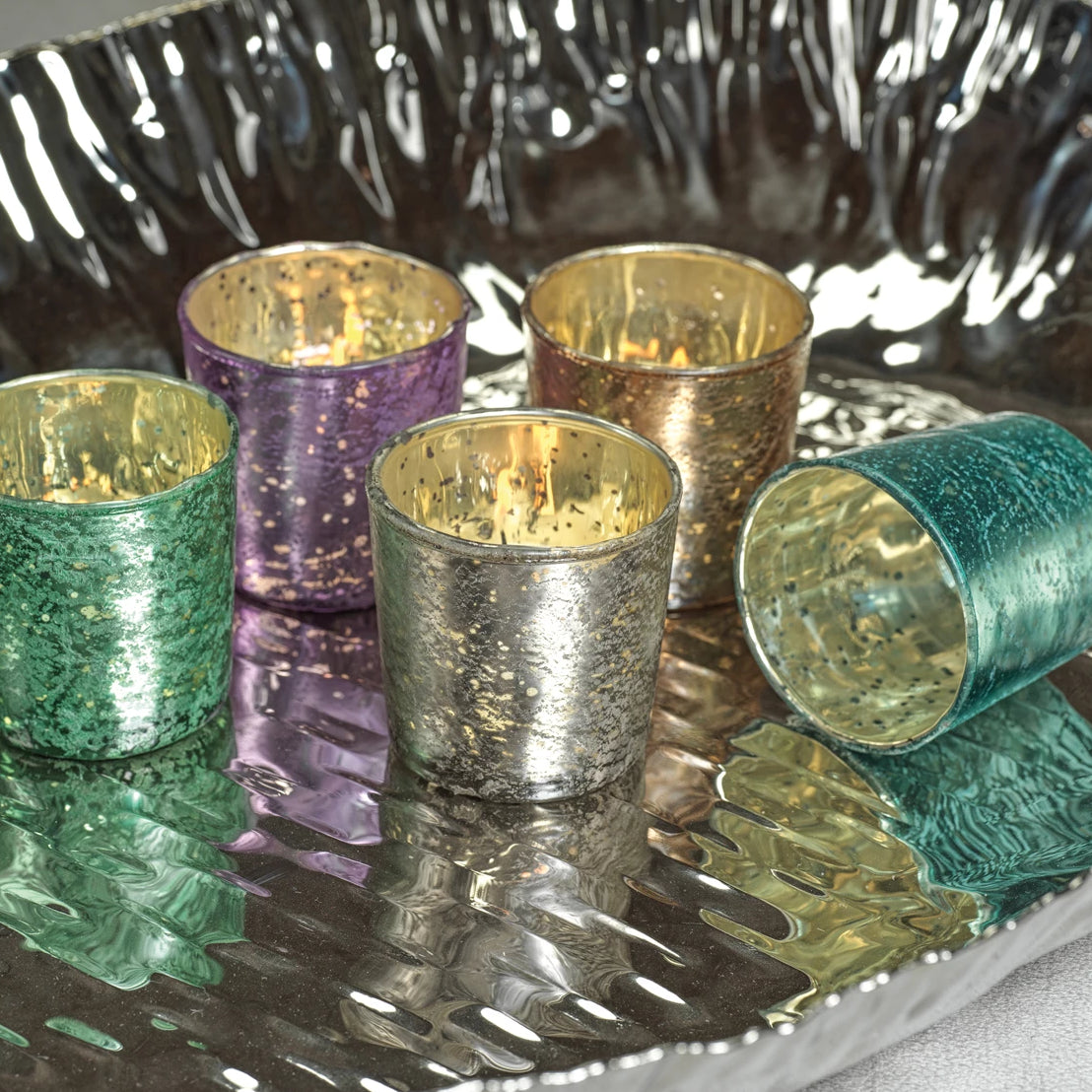 Metallic Antique Tealight & Votive Holders - CARLYLE AVENUE