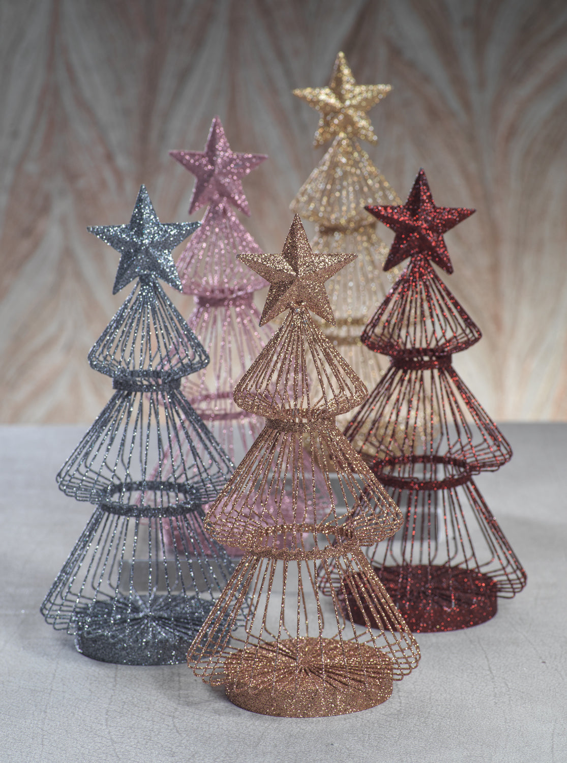 Wire Glitter Trees
