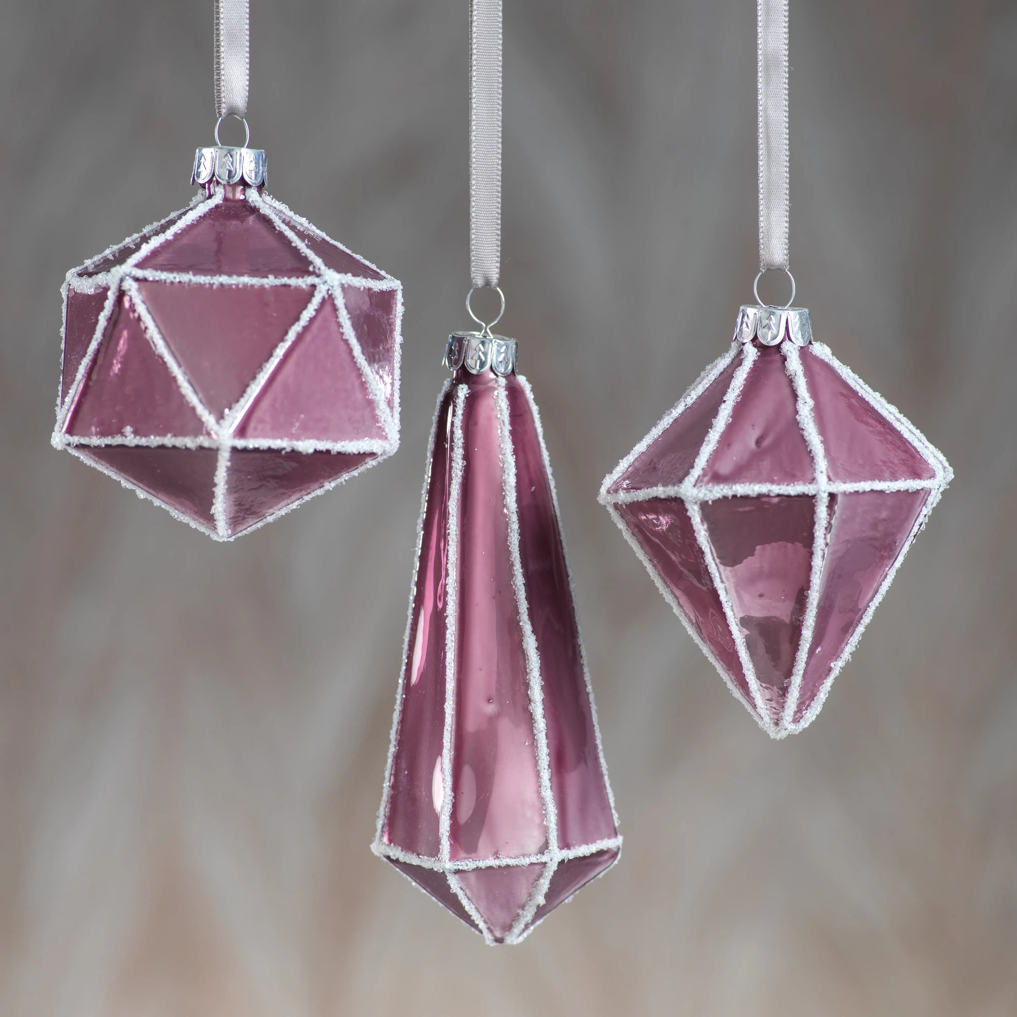 Metallic Pink Faceted Ornament - CARLYLE AVENUE