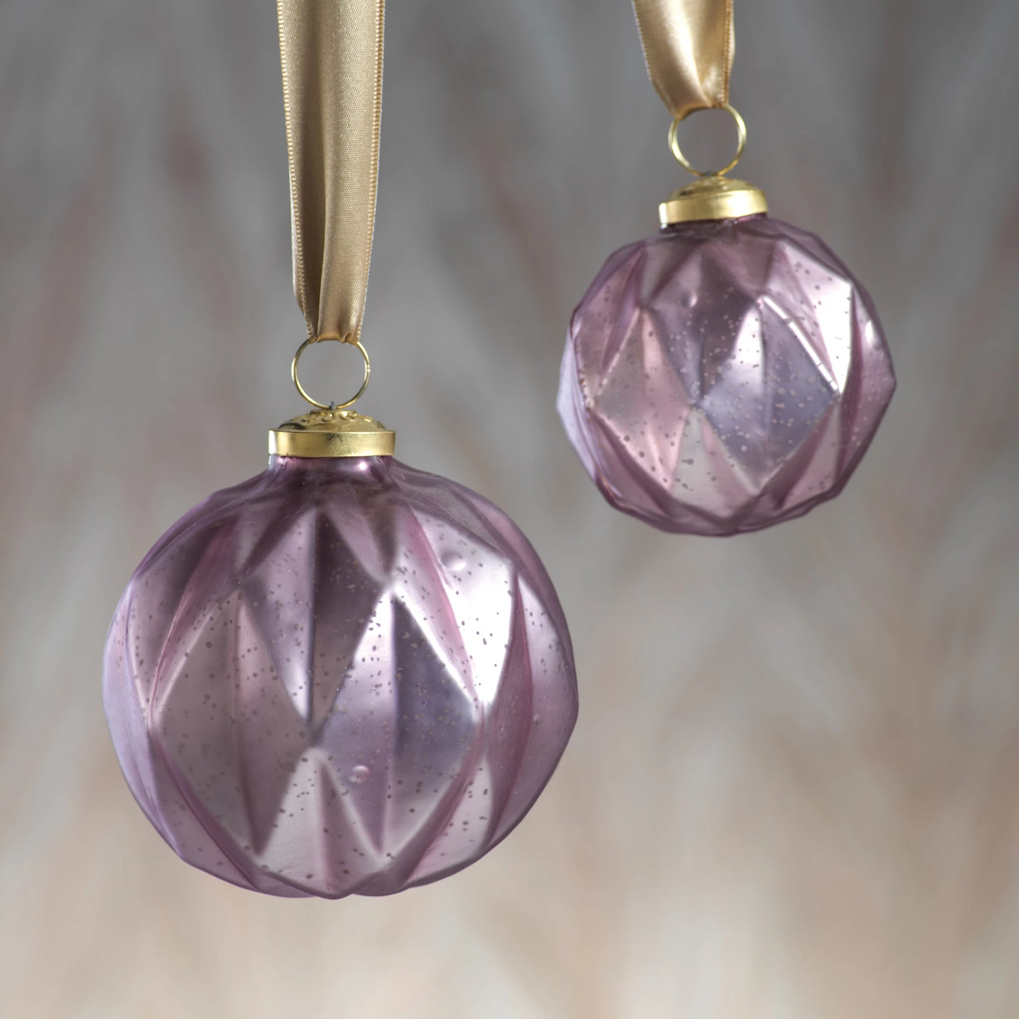 Faceted Glass Ornaments - Pink - CARLYLE AVENUE