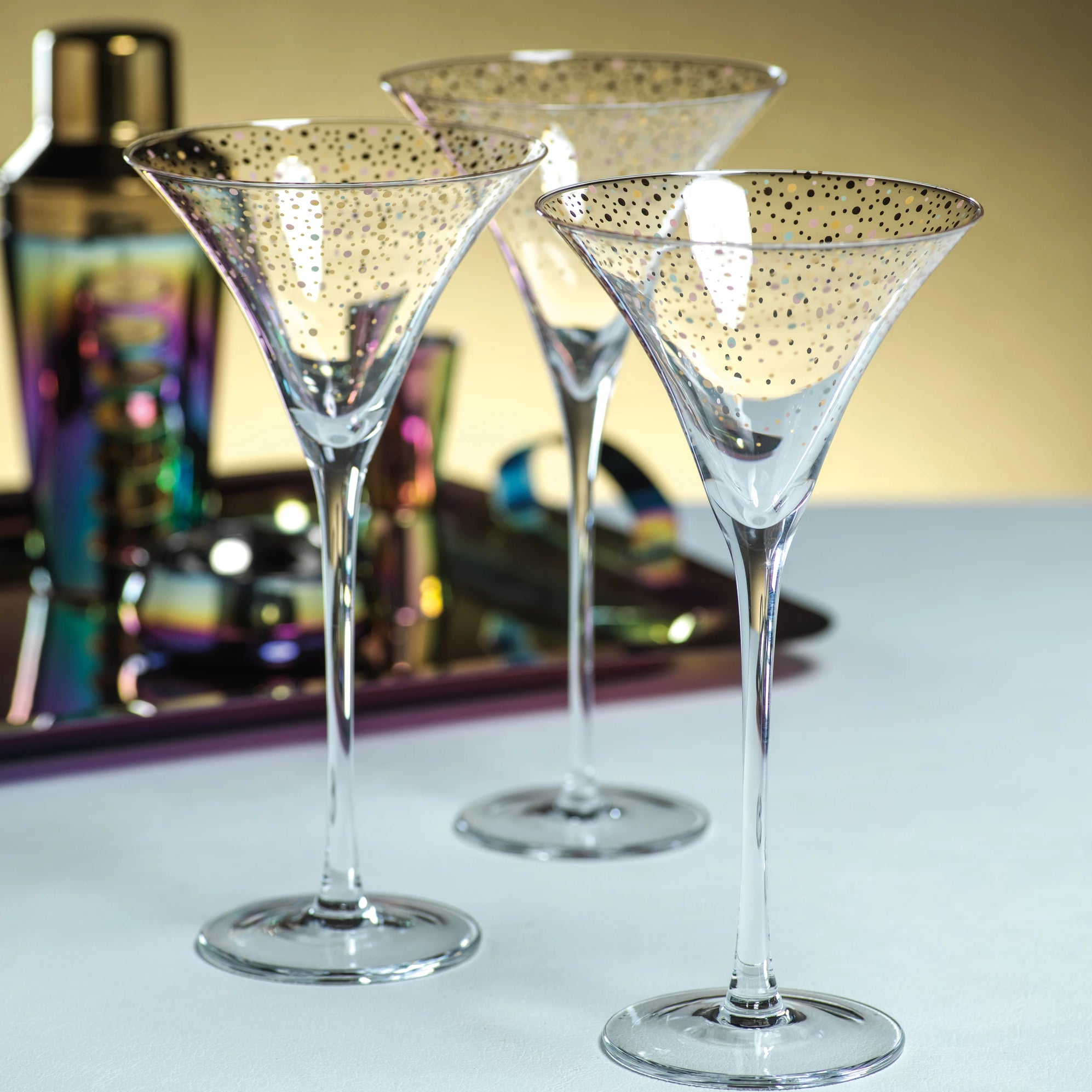 Confetti Martini Glass - s/4 - CARLYLE AVENUE