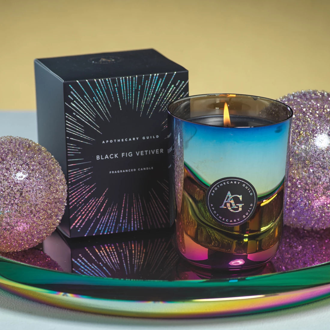 Apothecary Guild Rainbow Rounded Candle - CARLYLE AVENUE