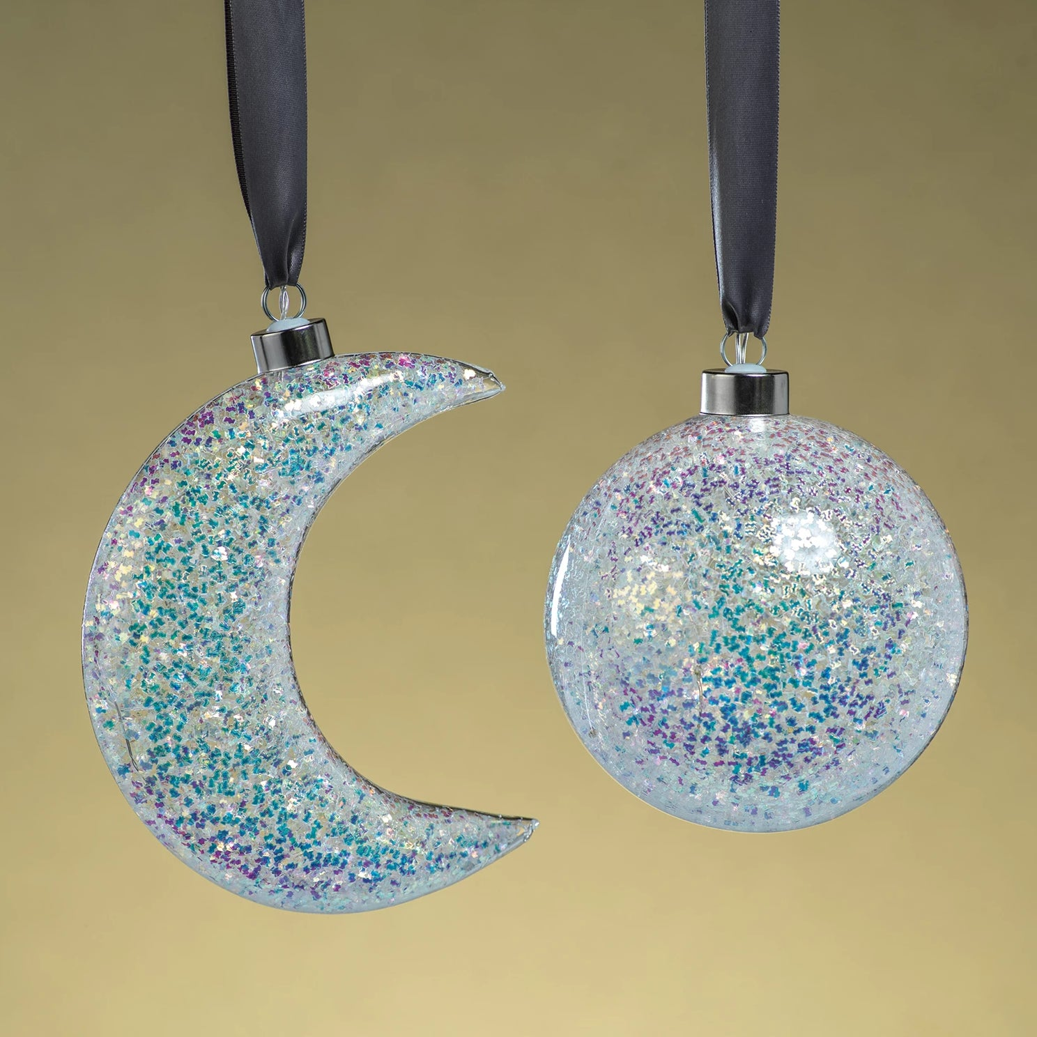 LED Multicolor Sequin Ornaments - 2 Styles