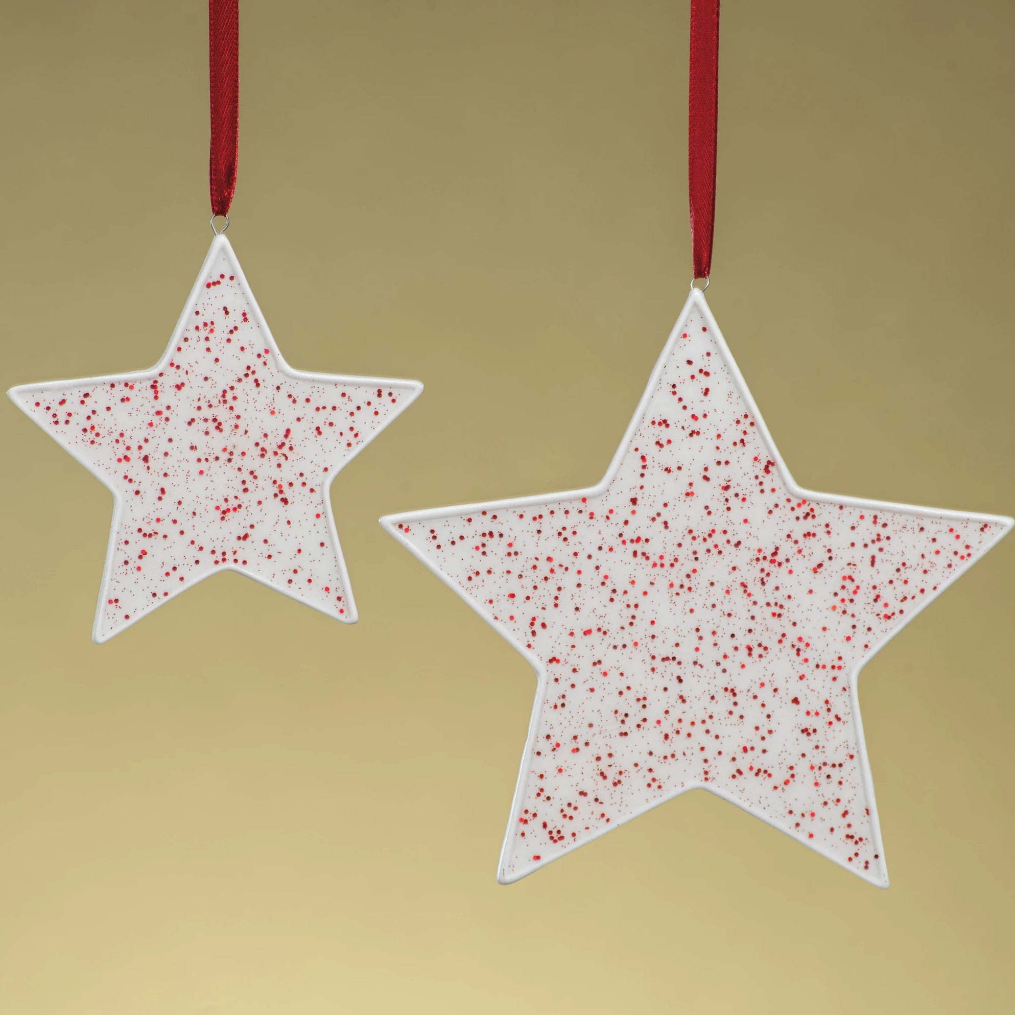 Speckled Star Ornament - Red - CARLYLE AVENUE