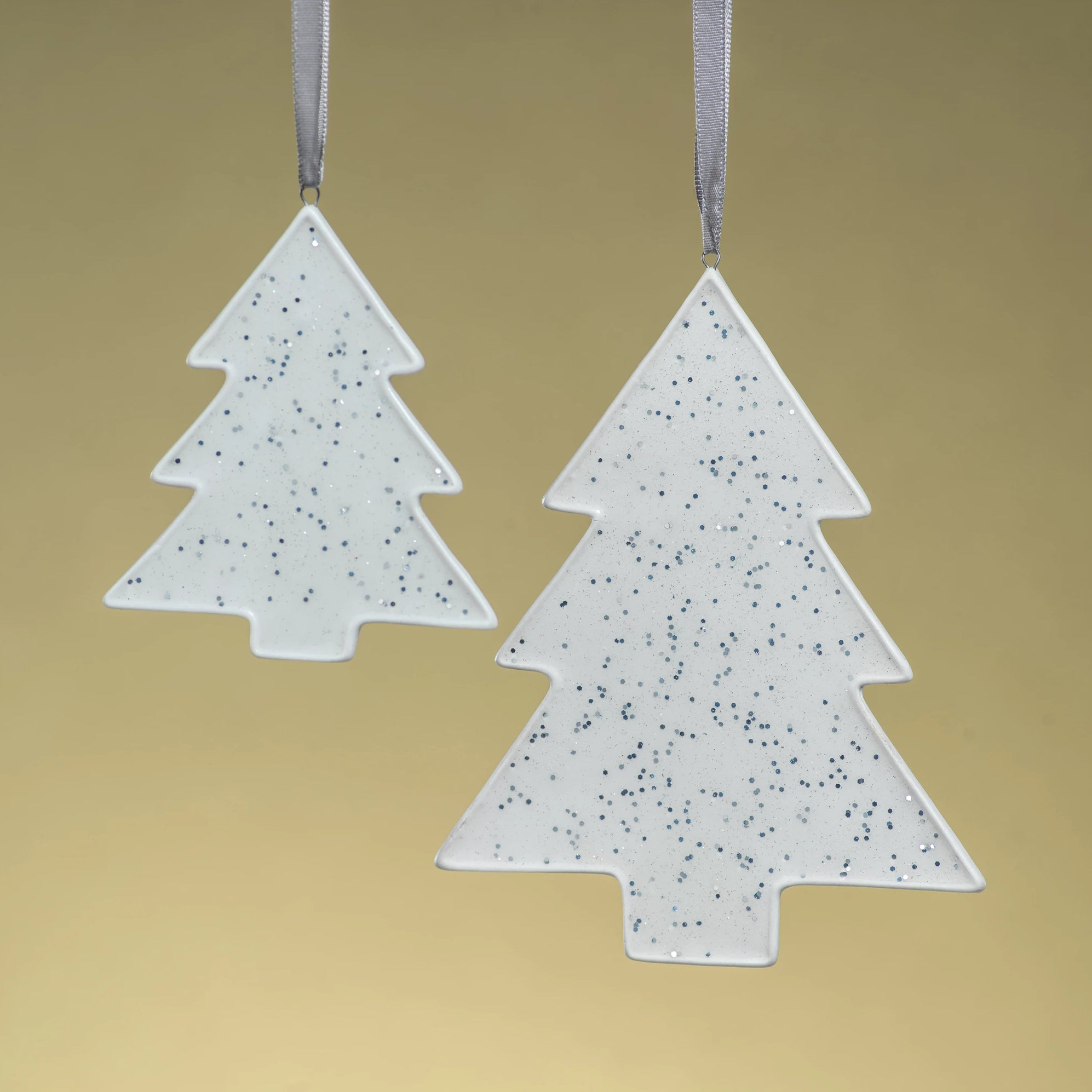 Speckled Tree Ornament - Silver - CARLYLE AVENUE
