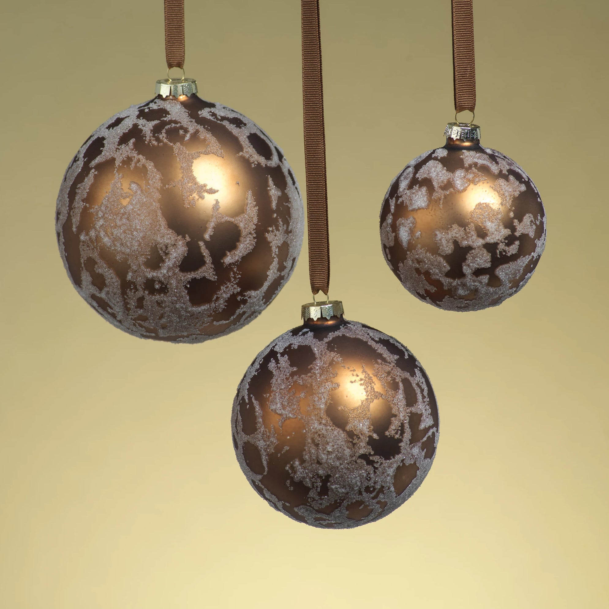 Metalic Dark Copper Beaded Ornament - CARLYLE AVENUE