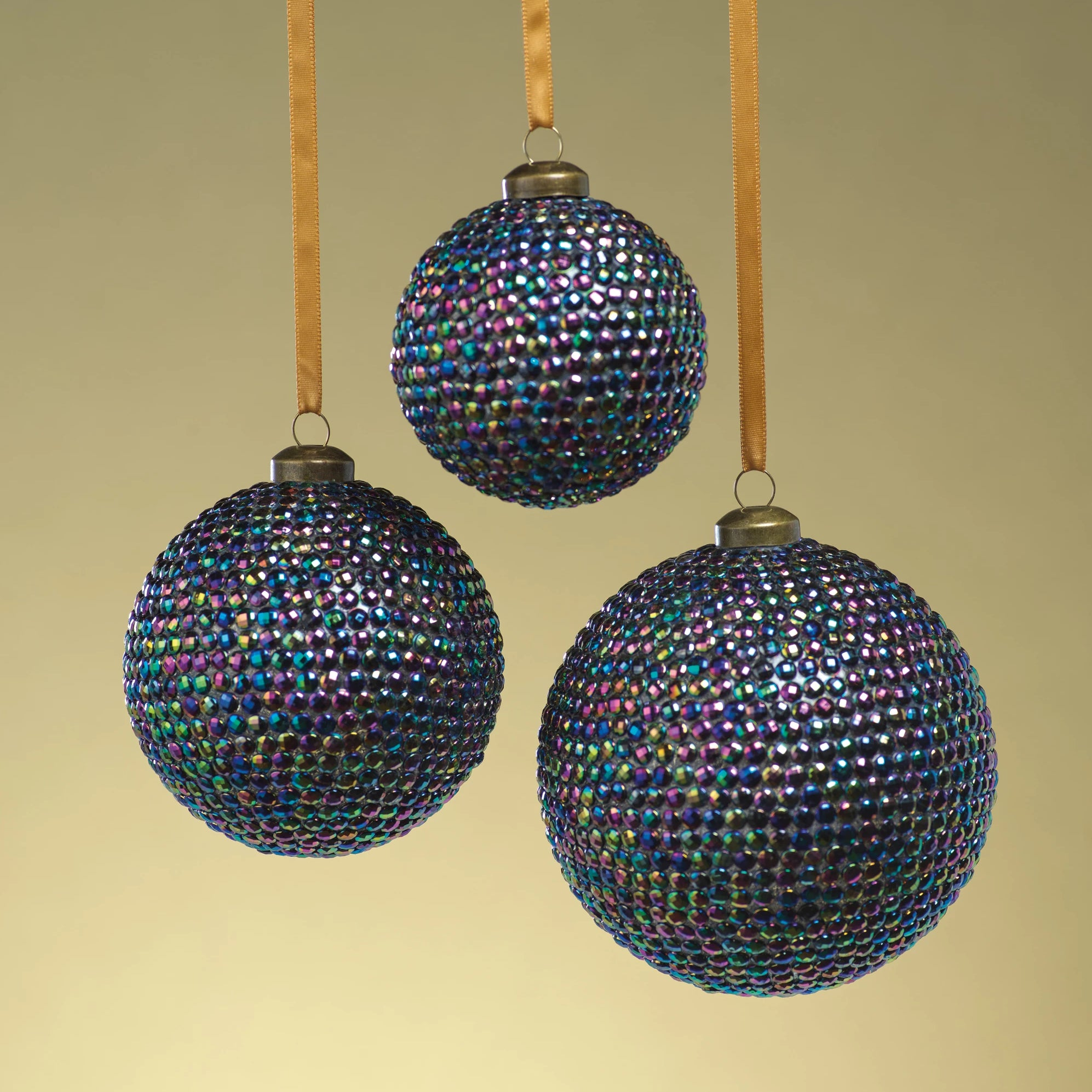 Rainbow Beaded Ornament - CARLYLE AVENUE