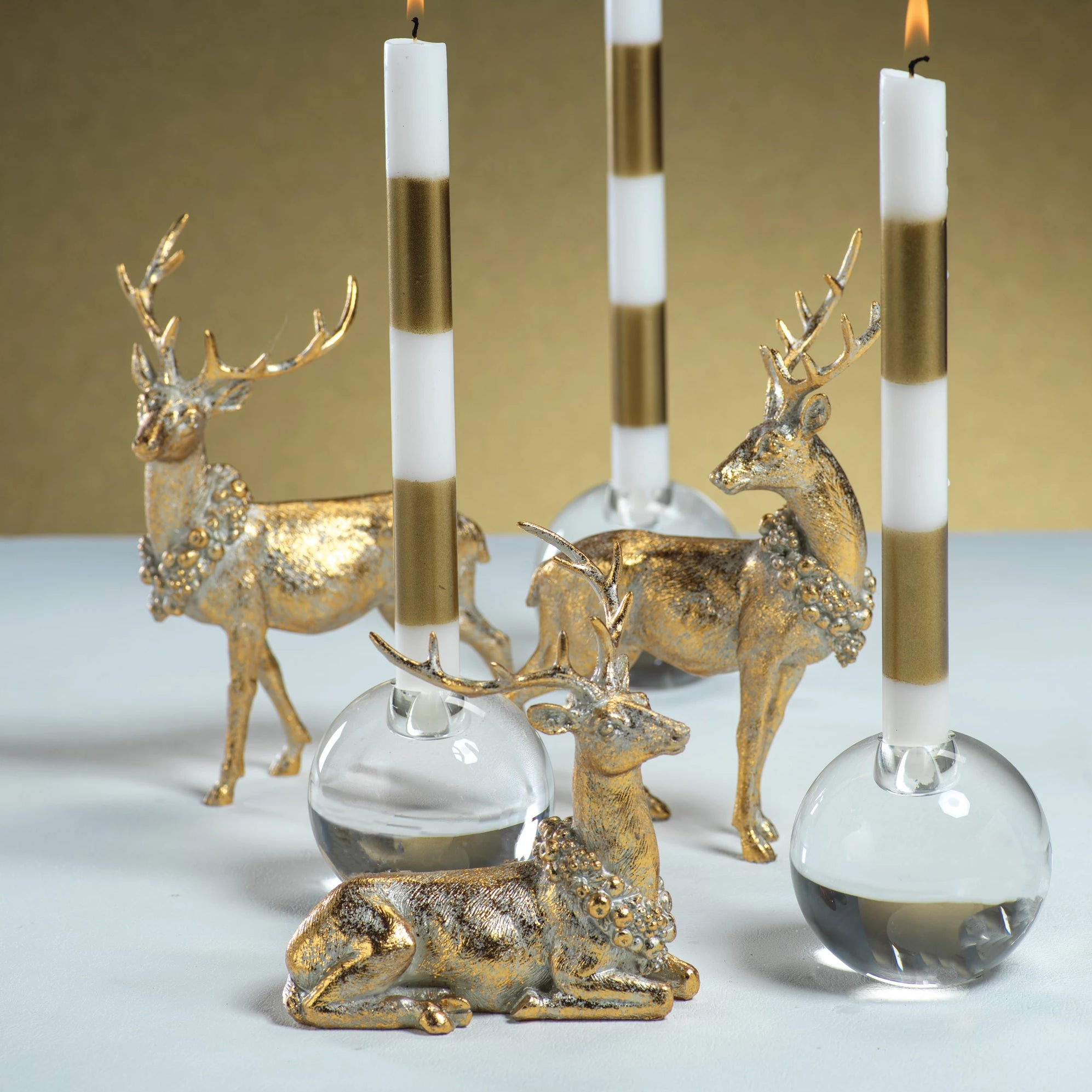 Assorted Deer w/ Ornamental Wreath - s/3 - CARLYLE AVENUE