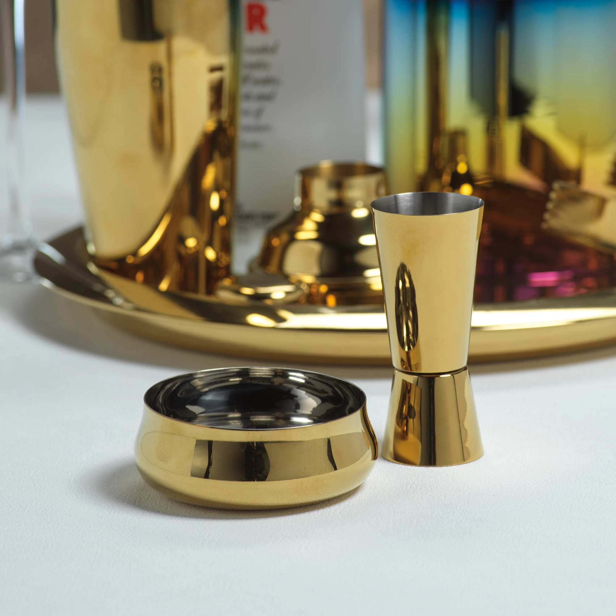 Stainless Steel Gold Cocktail Accessories