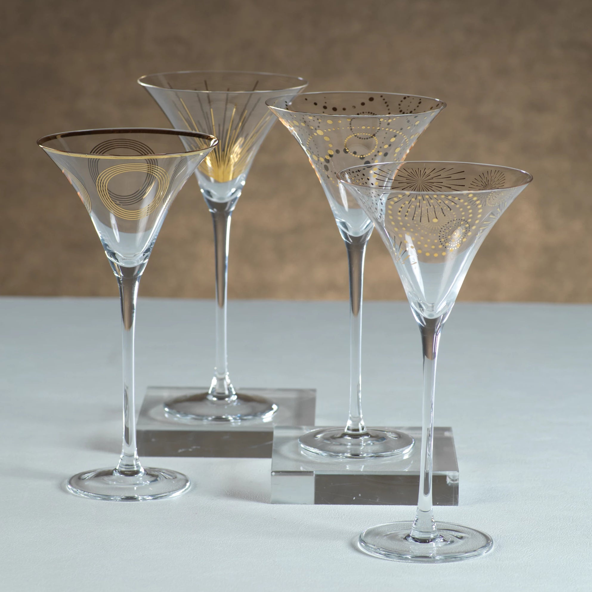 Celebration Martini Glass Assortment - s/4 - CARLYLE AVENUE