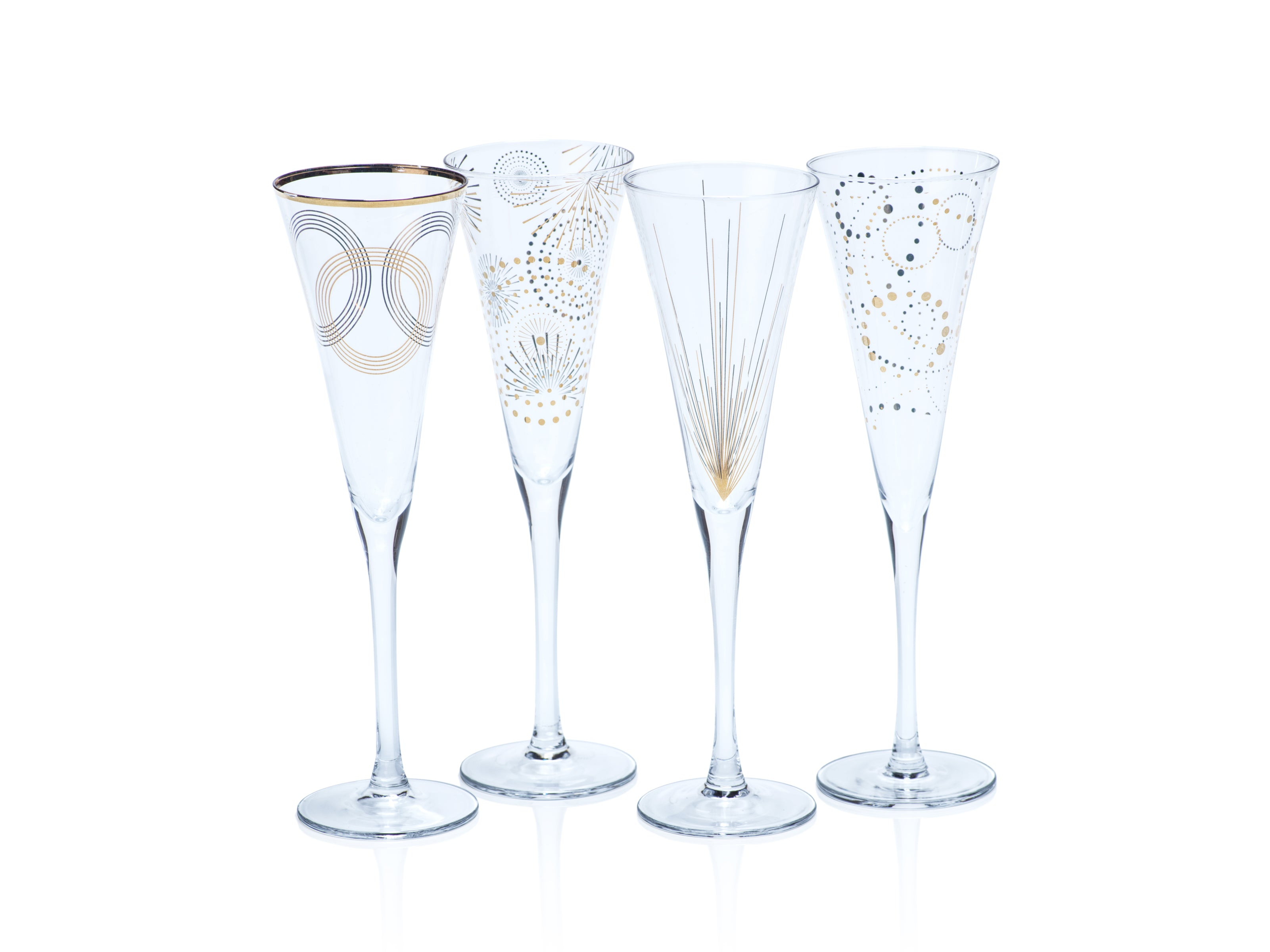 Celebration Champagne Flute Assortment - s/4 - CARLYLE AVENUE
