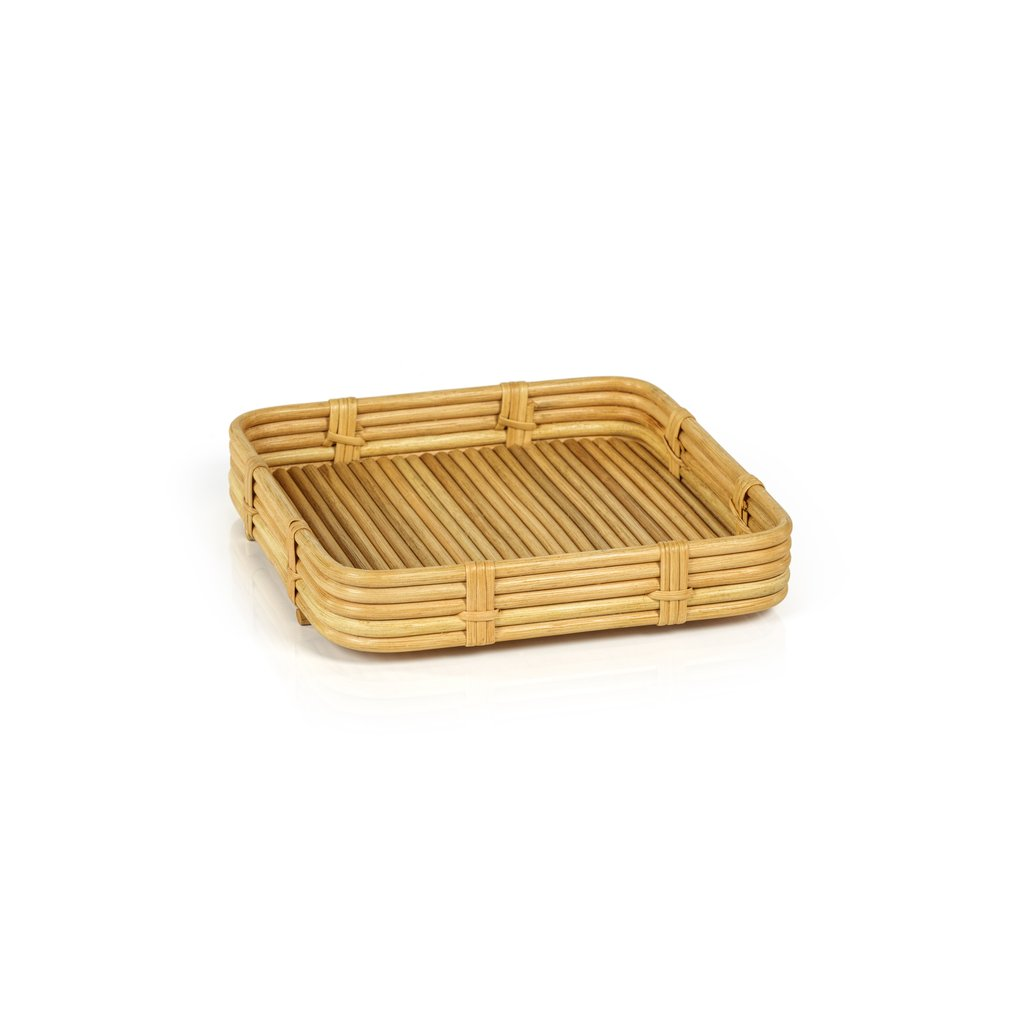 Avalon Rattan Serving Tray - Natural - Square
