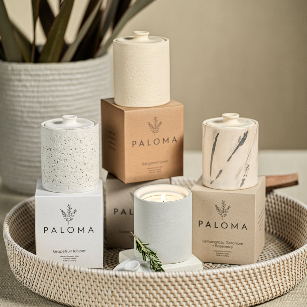 Paloma Scented Candle in Clay Jar