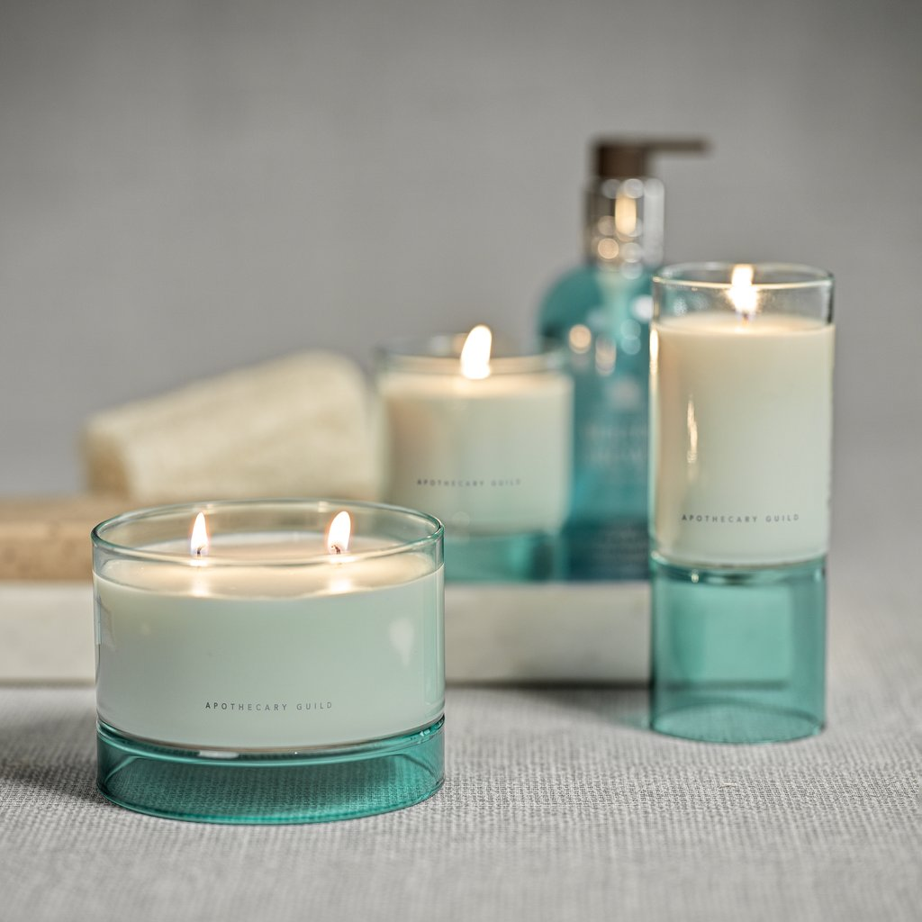 AG Delmar Candle - Sea Glass Blue / Sunset Beach