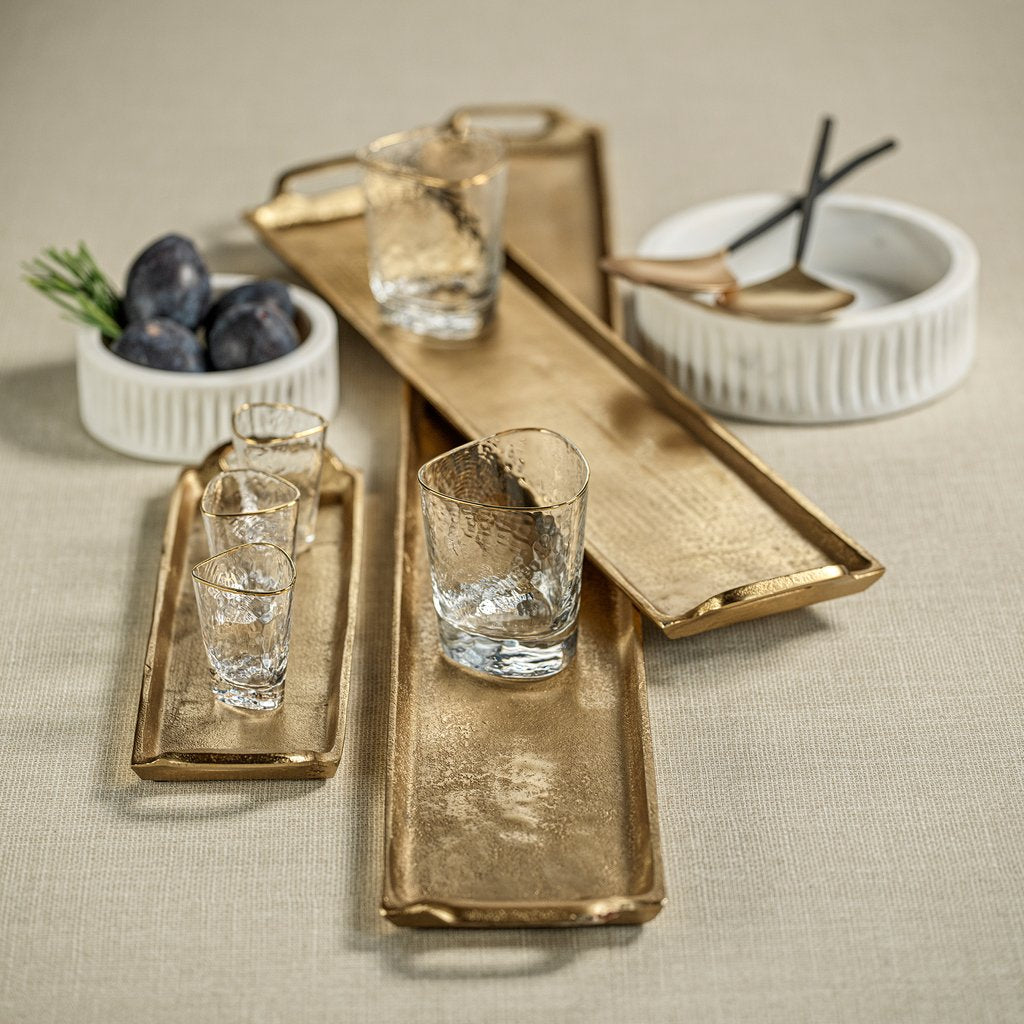 Rectangular Aluminum Tray - Dark Gold