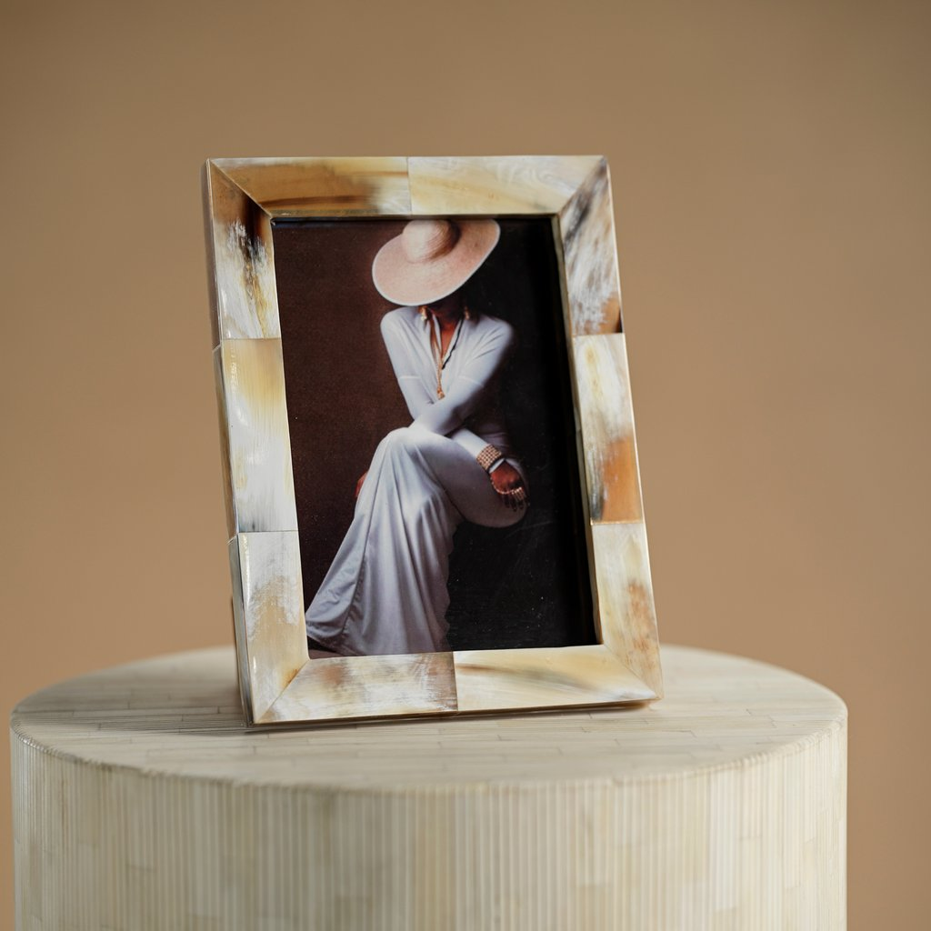 Matte White Bone Photo Frame