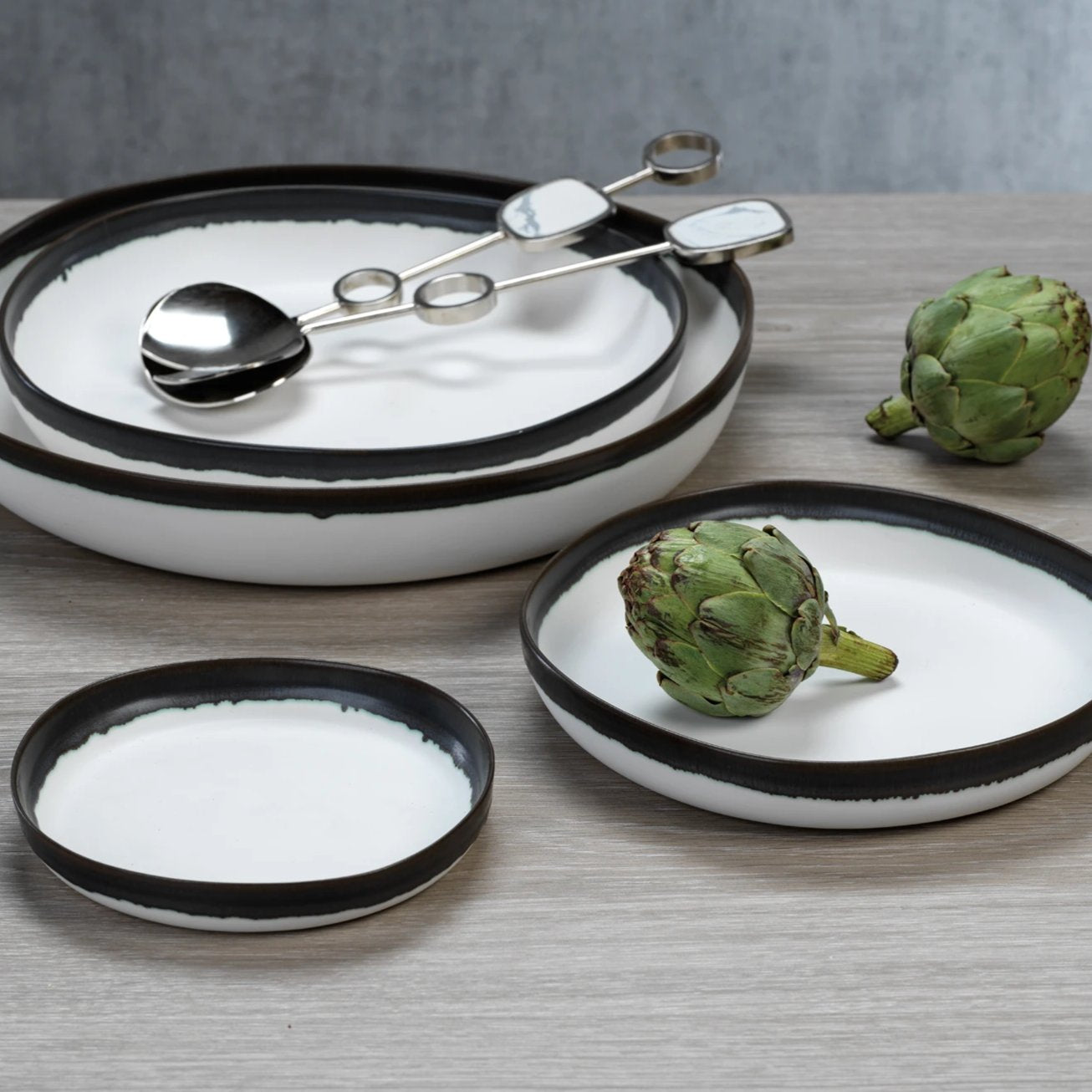 Trento White Plate Collection - CARLYLE AVENUE