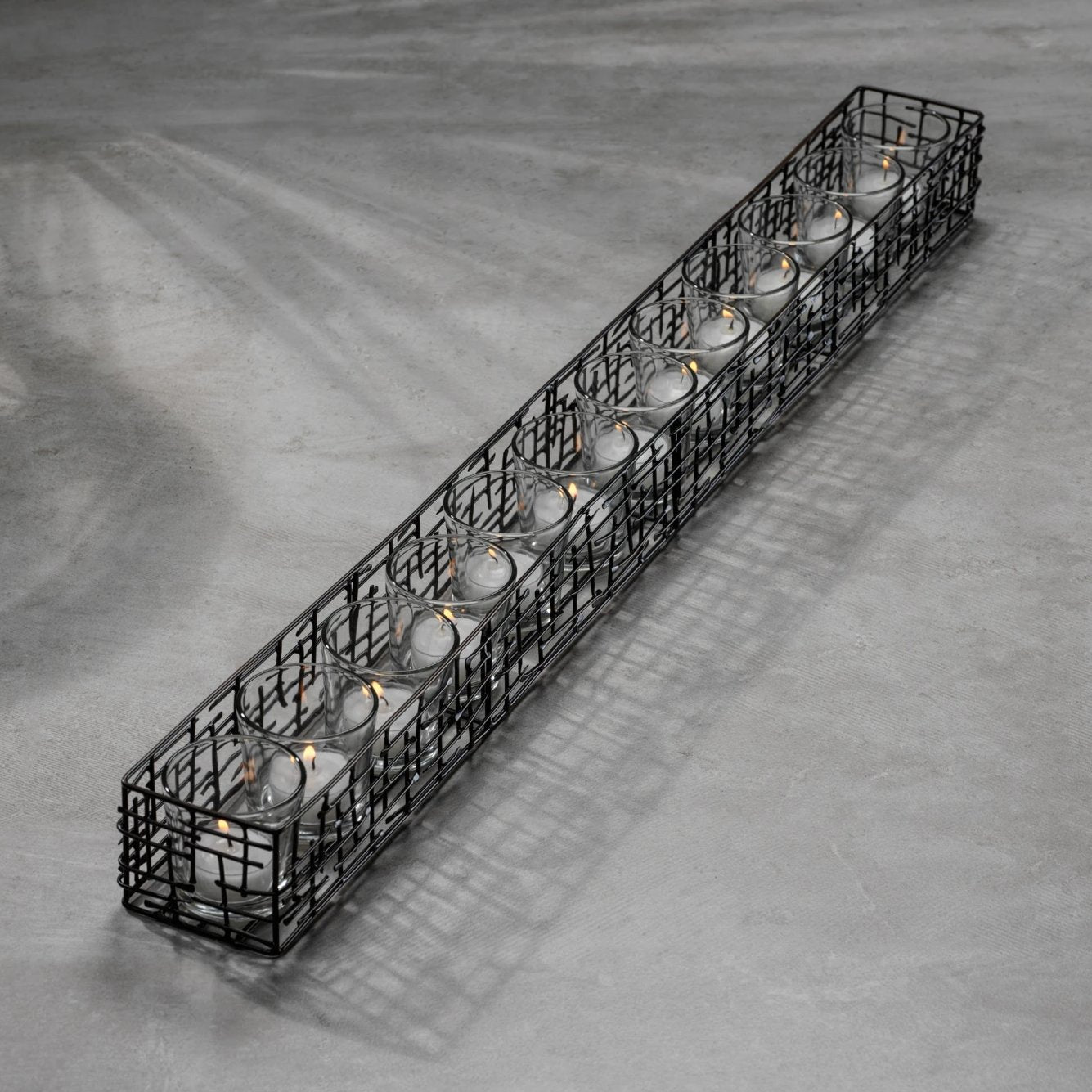 Dakar Metal 12 Glass Candle Holder - CARLYLE AVENUE