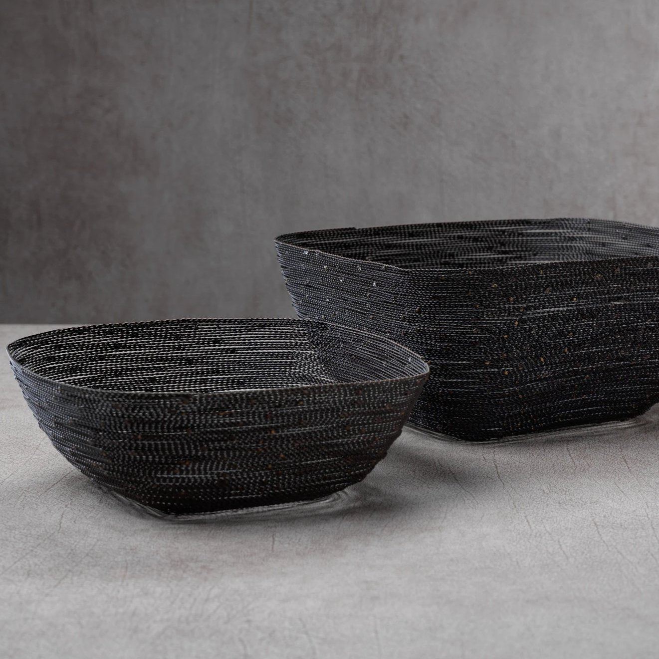 Dakar Twisted Wire Square Bowl - CARLYLE AVENUE