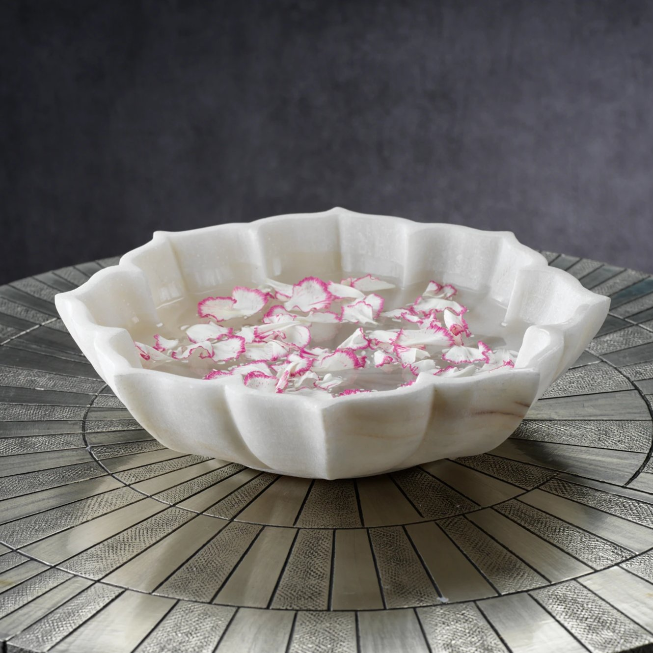 Lotus Marble Bowl - CARLYLE AVENUE