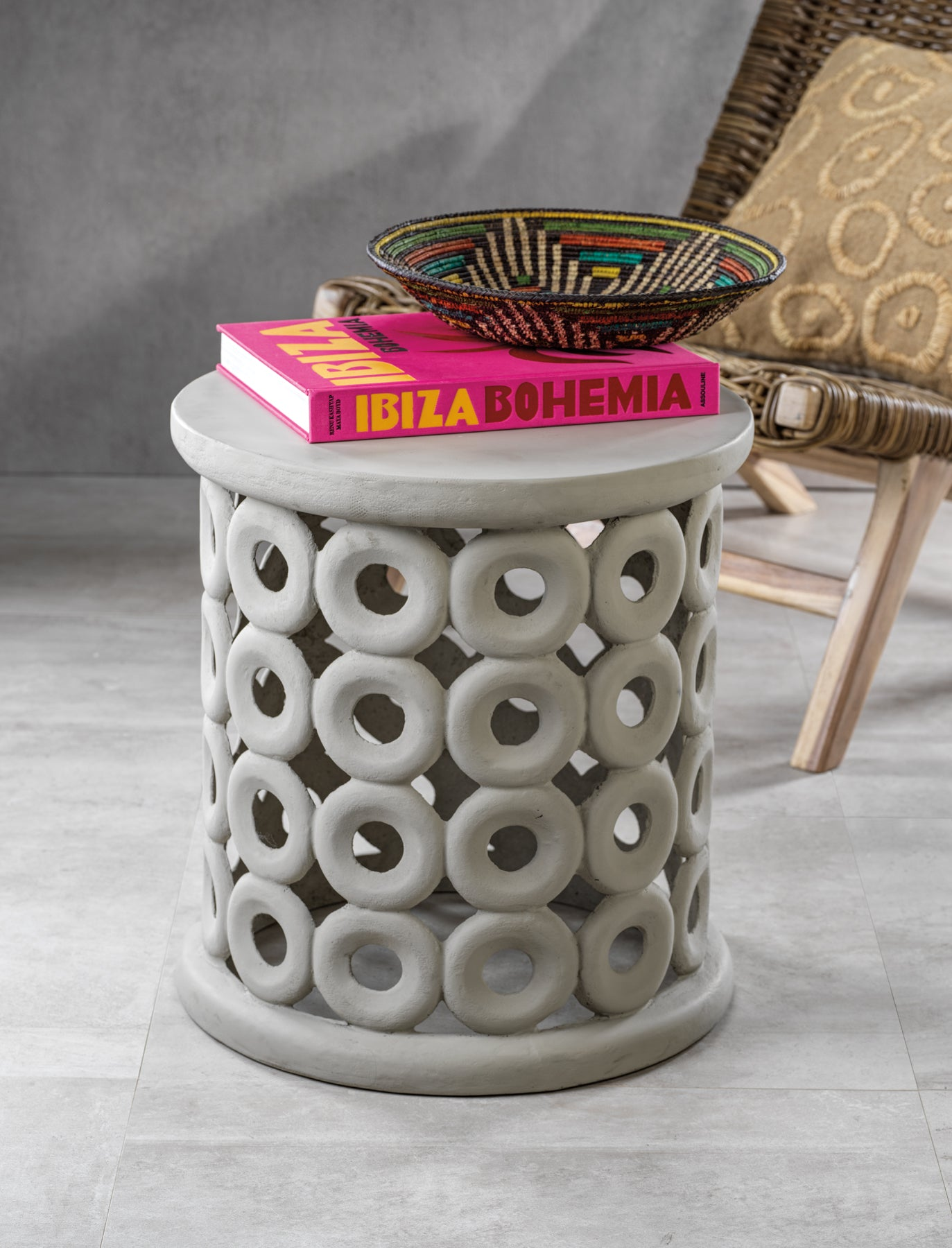 Carmen Earthenware Stool - CARLYLE AVENUE