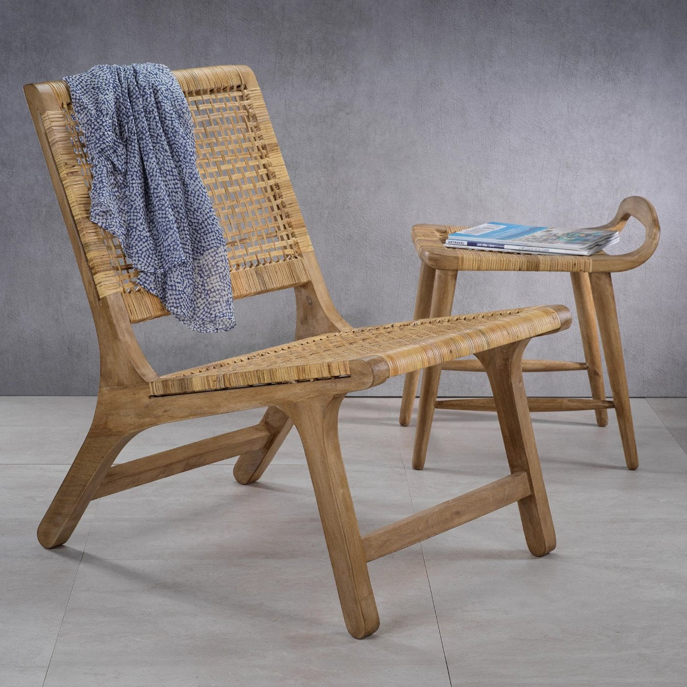 Sand River Mango Wood & Cane Chair - CARLYLE AVENUE