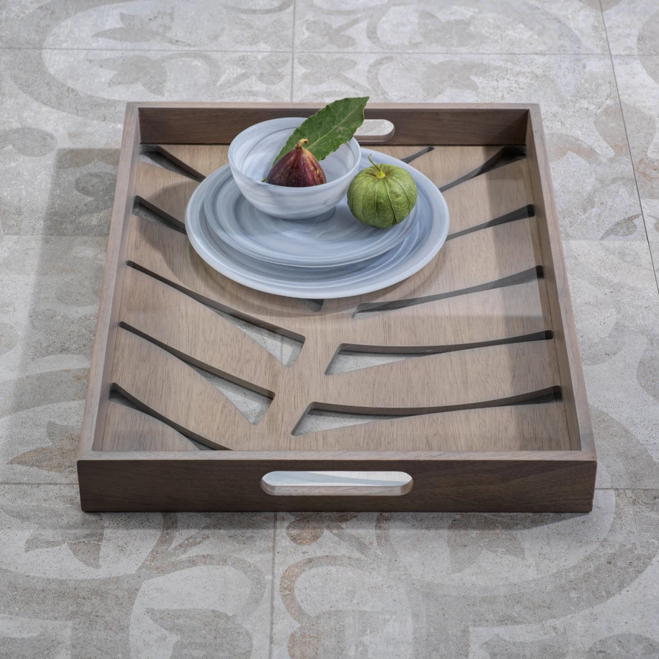 Samar Leaf Serving Tray - Small - CARLYLE AVENUE