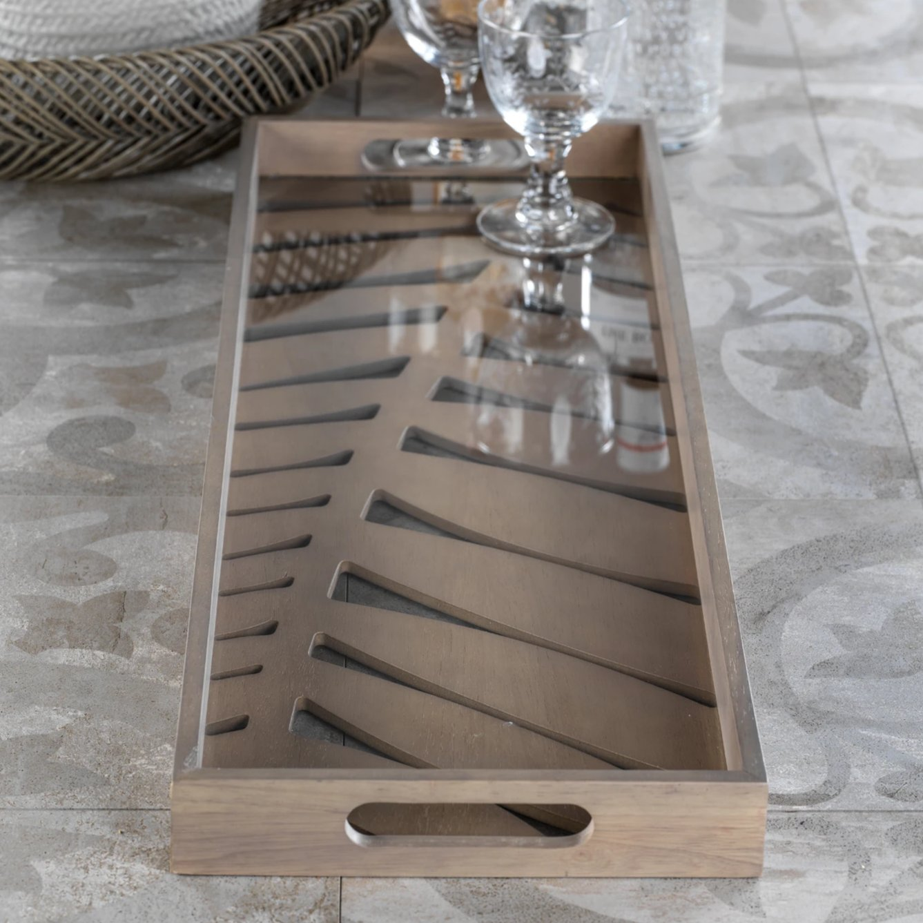 Samar Leaf Serving Tray - Large - CARLYLE AVENUE