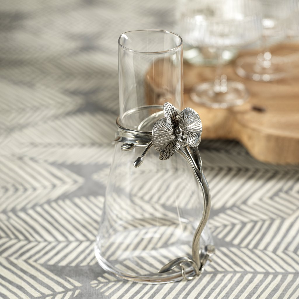 Small Orchid & Glass Pitcher