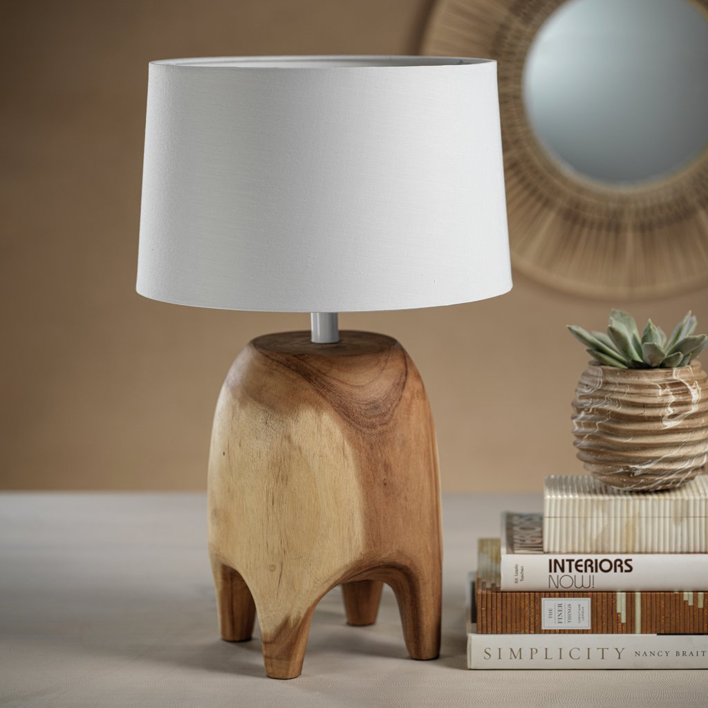 Acacia Wood Table Lamp