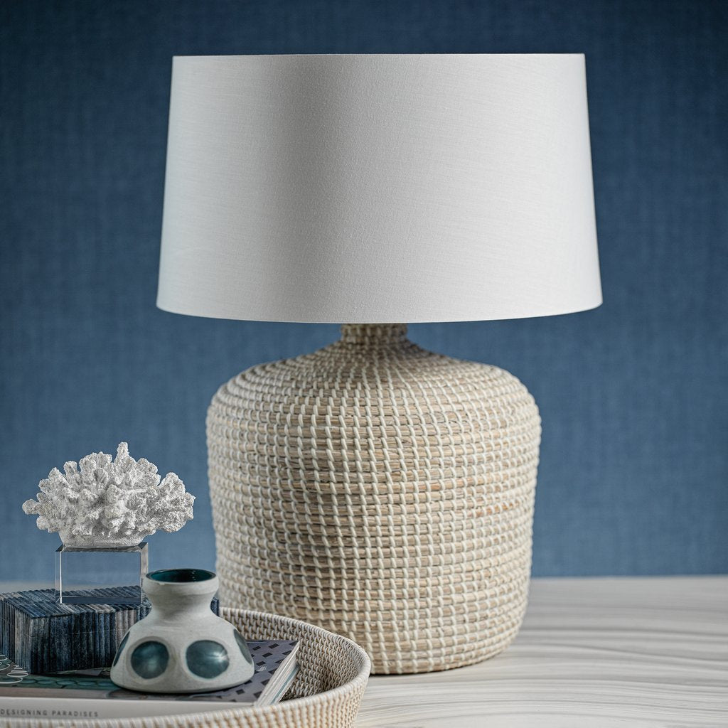 Palm Beach Seagrass Table Lamp