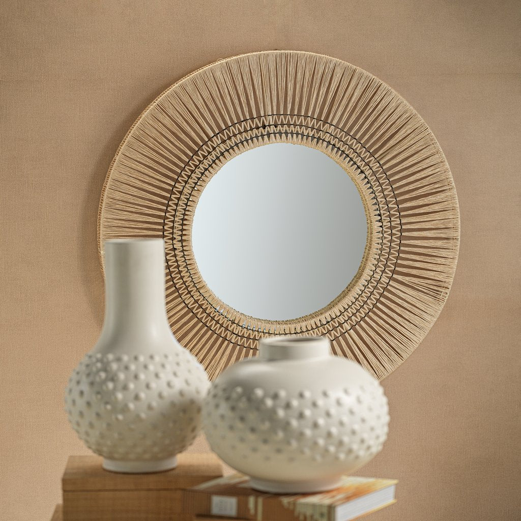 Mnemba Interlaced Wall Mirror - Natural - 2 Sizes