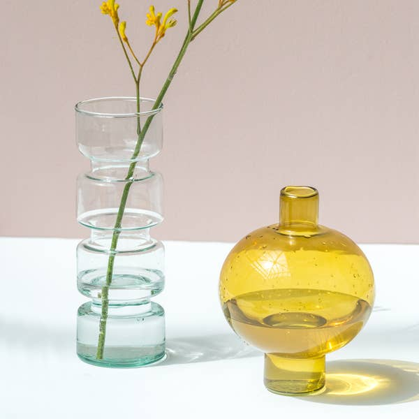 Paloma Recycled Glass Vase - CARLYLE AVENUE
