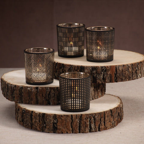 Abstract Assorted Tealight Holders - Set of 4