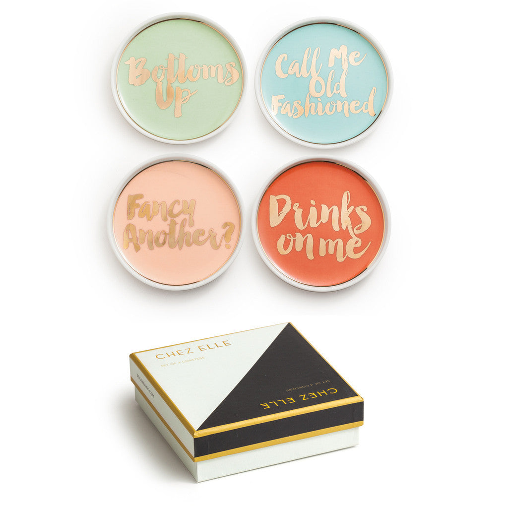 Chez Elle Coasters - Set of 4 - CARLYLE AVENUE