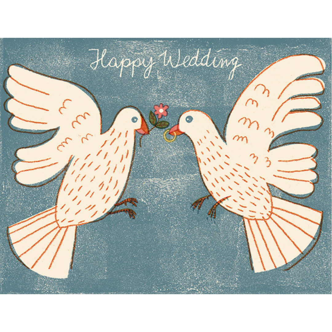 Love Birds Wedding Card - CARLYLE AVENUE
