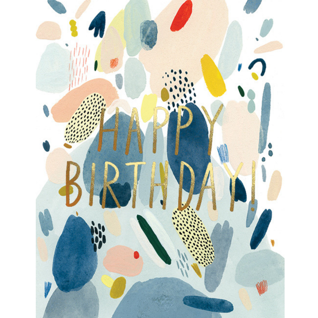 Abstract Birthday FOIL Card - CARLYLE AVENUE