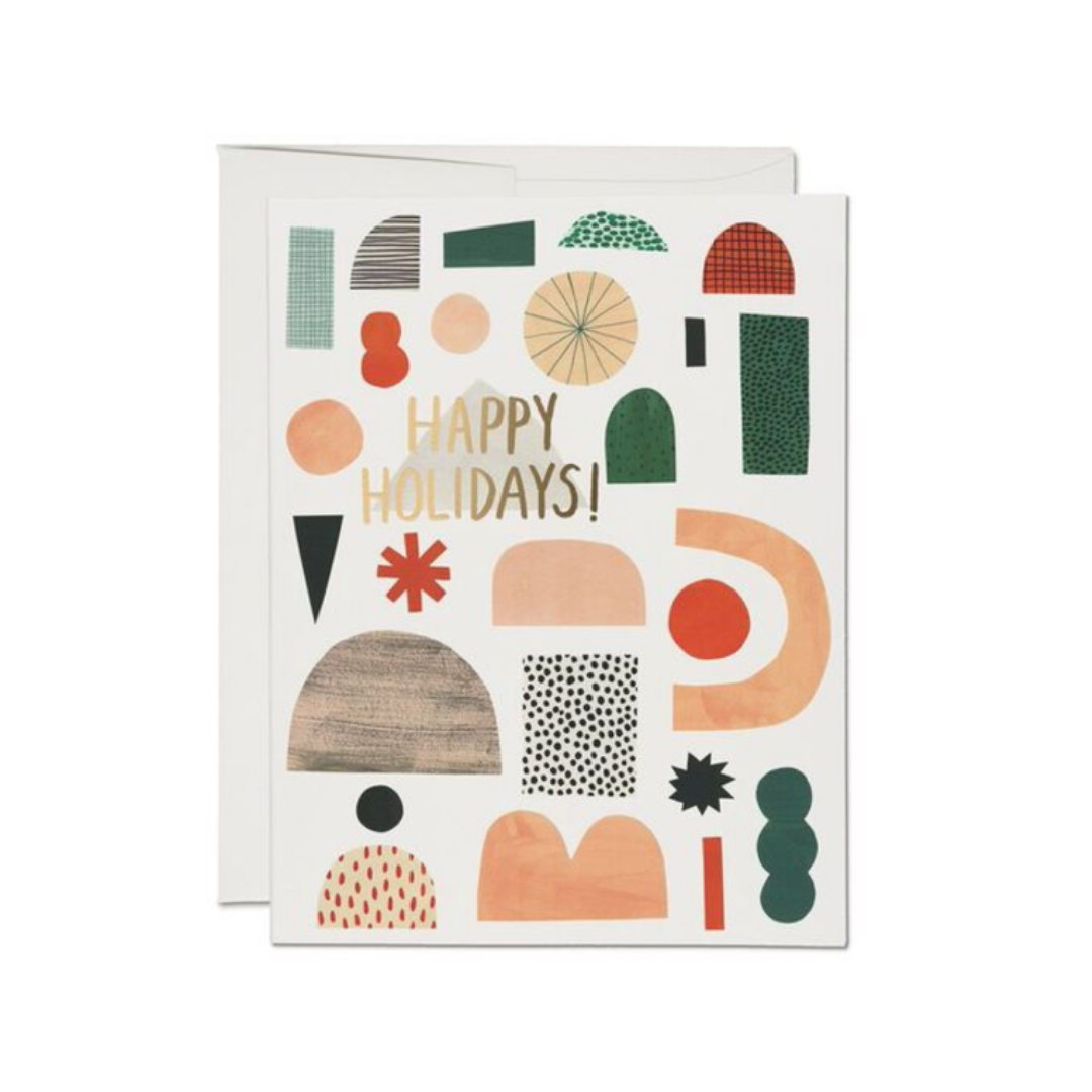 Xmas Shapes FOIL Holiday Card