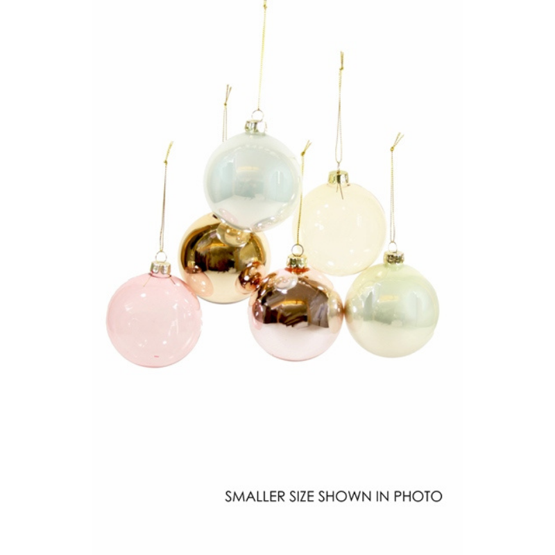 Giant Neutral Hue Ornament Assortment - Set of 6