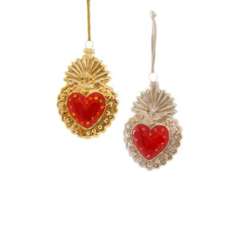 Heart Milagro - Set of 2 Ornaments