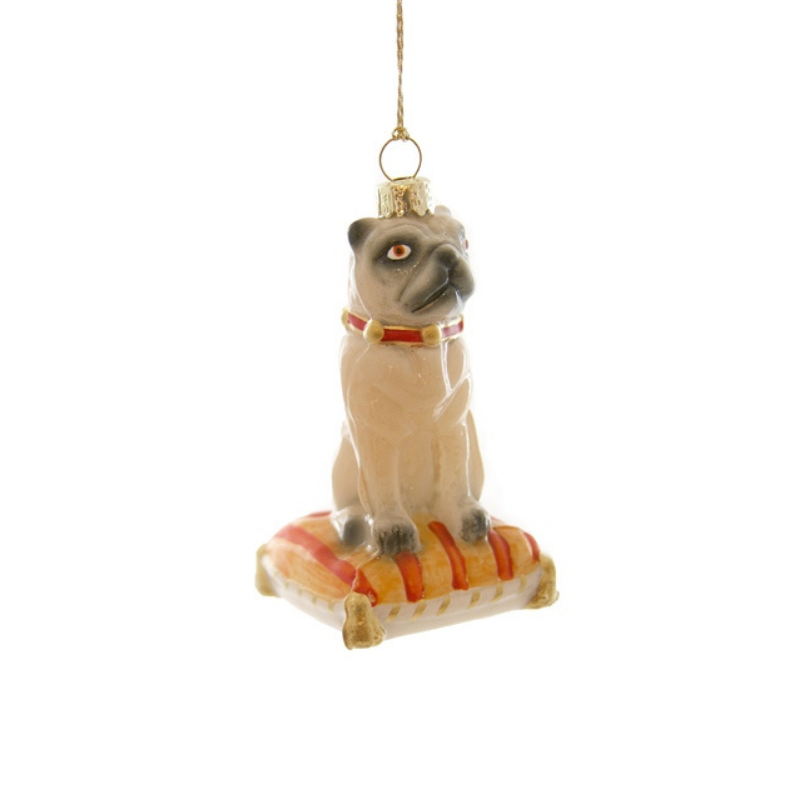 Seated Pug Ornament
