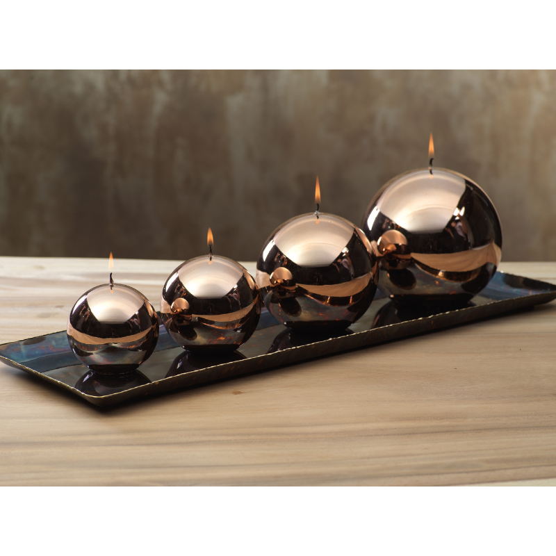 Shiny Metallic Ball Candle - Gold Bronze