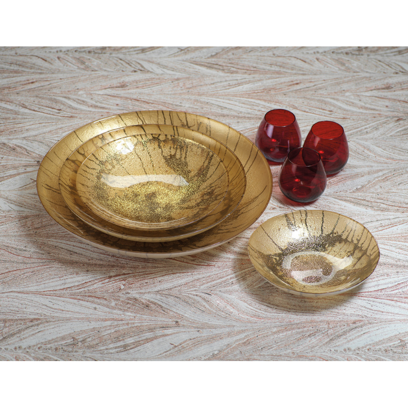 Golden Pearl Metallic Watercolor Bowls - CARLYLE AVENUE