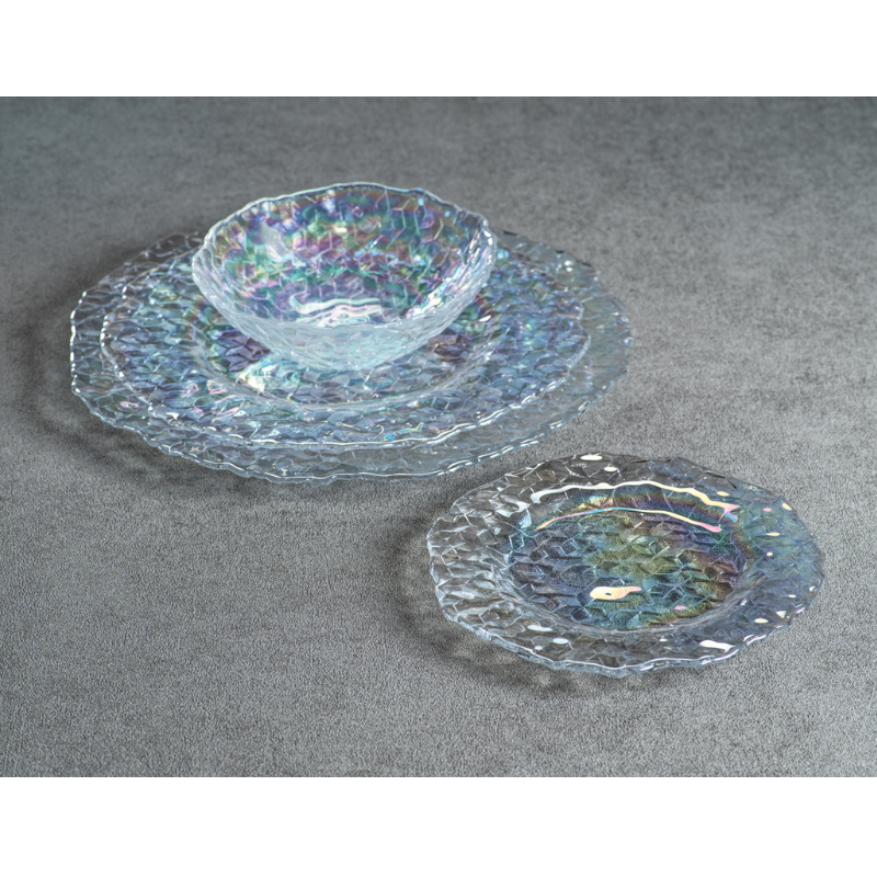 Cubic Iris Luster Plates - CARLYLE AVENUE