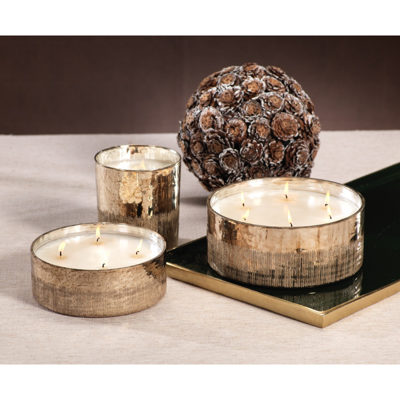 Siberian Fir Antique Gold Candle Jars - CARLYLE AVENUE