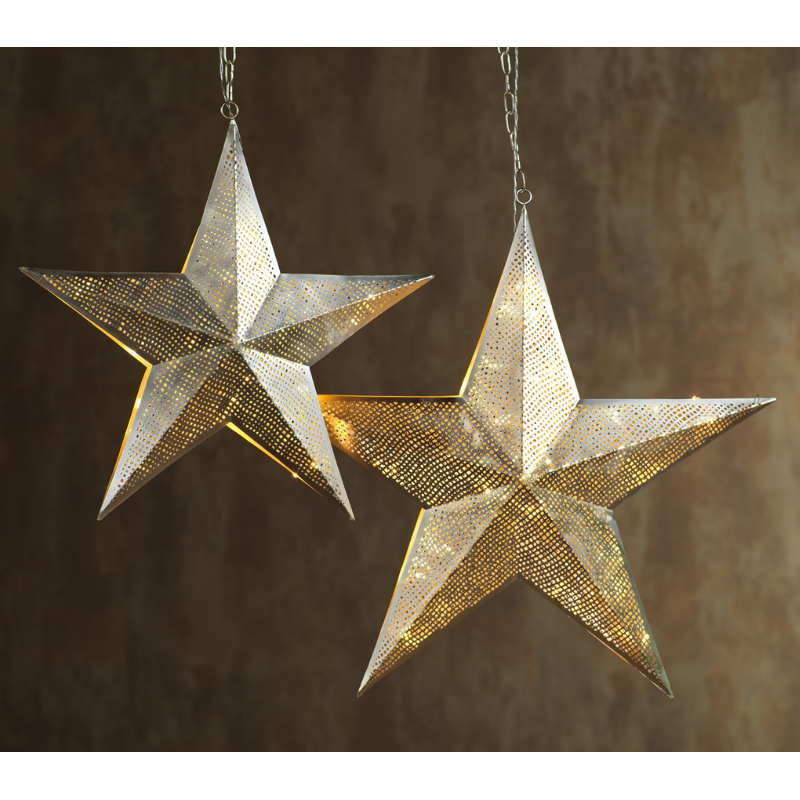 LED Hanging Metal Star Lamp