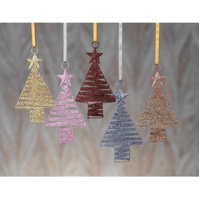 Zig Zag Pattern Tree Ornament - CARLYLE AVENUE